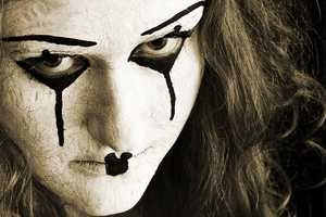 To Remain Silent by Mark Delaney Features Caked-on Mime Makeup