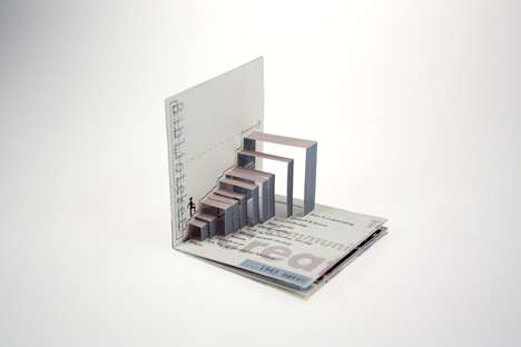 Pop-Up Infographics - Ole Martin Volle Creates a Tiny Tactile Folder for a School Library