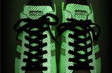 Glowing Scaly Shoes - The Adidas SS80s G SNK3 Shoes Illuminate in the Dark