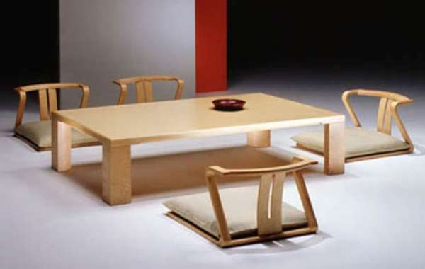Home interior design japanese style dining room furniture for Asian style dining table and chairs