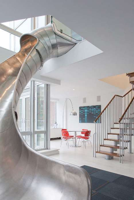 Sliding NYC Condos - Turett Collaborative Architect Brings the Playground to This Fun-Filled Home