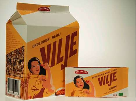 Flashback Food Packaging - Vilje Musli Branding Attracts the Empowered Woman