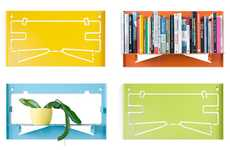 Flatpack Flexible Shelving - The Matthias Ries Piegato Shelves are Interactive Protruding Perches