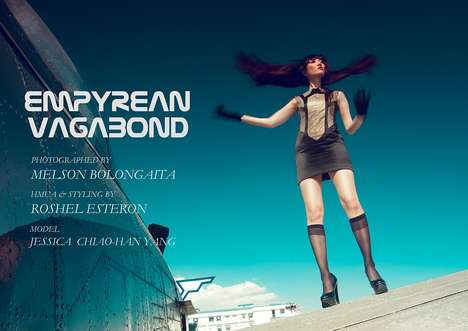 Aviator-Inspired Editorials - Empyrean Vagabond is a Hot Photography Series that Flies High