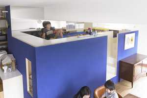 The nr1977 by MihaDesign is a Lofty Bunk Bed With a Floating Desk Atop