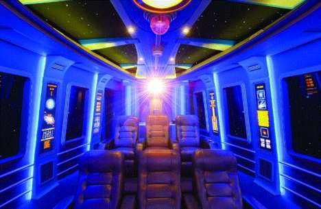 Sci-Fi Themed Rooms - This Incredible Hawaiian Home Features a Star Wars Home Theater