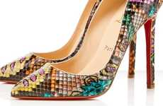 Splashy Serpentine Pumps - Take a Walk on the Wild Side With the Christian Louboutin Python Batiks