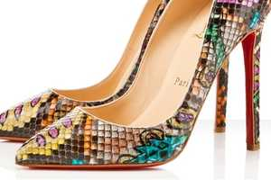 Take a Walk on the Wild Side With the Christian Louboutin Python Batiks