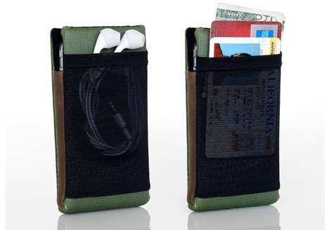 Compartmental Cellular Covers - Keep All Personal Belongings in the Waterfield Smart iPhone 4 Case