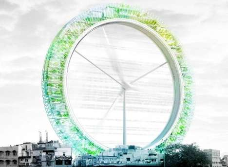 Ferris Wheel-Like Eco-Structures - The LO2P: Delhi Recycling Center Wins eVolo Skyscraper Comp