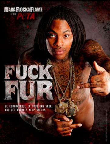 Waka Flocka Flame PETA Ads