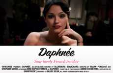 Linguistic Celeb Apps - Anne-Sophie Franck Teaches You French With the Daphnee Paris App
