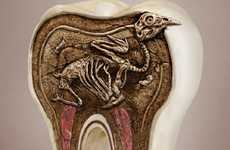 Rotting Tooth Campaigns - These Pepsodent Torsion Toothbrush Ads Will Make You Brush More Often