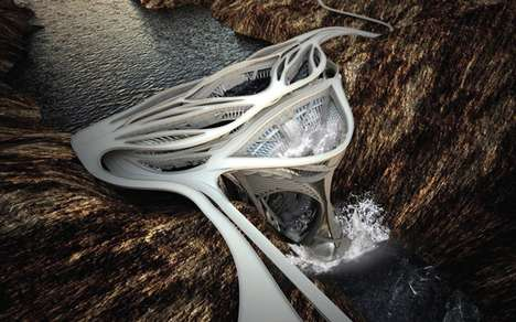 Dam Tower Structures - Yheu-Shen Chua 's Re-Imagining the Hoover Dam is a Daring Design
