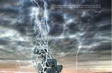 Lightning Bolt Structures - The Hydra Skyscraper Recieves Honorable Mention from eVolo Competition
