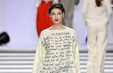 Scribbled Manuscript Couture