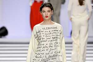 Designer Jean-Claude Castelbajac Adds Oomph with Fashion Text