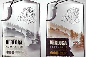 Berloga Vodka Bottles Stake Untamed Territory on Liquor Store Shelves
