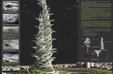 Leafy Living Towers - The Tree of Life Skyscraper Provides a Complete Setting for Human Existence