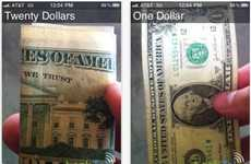 Money-Counting Smartphone Apps - The LookTel Money Reader Lets You Use Your iPhone to Count Cash