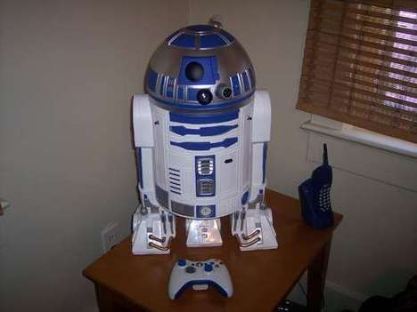 Sci-Fi Gaming Consoles - Mark Bongo Creates an R2-D2 Xbox 360 Projector for Star Wars Fans
