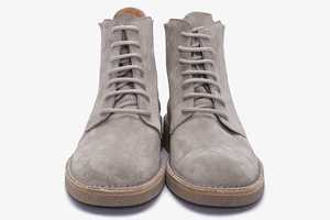 The Kris Van Assche Suede Boots are a Single Shade of Gray