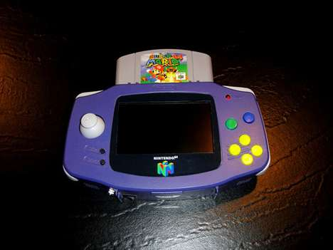 DIY Handheld Gaming -  Hailrazer's N64 Gameboy Advance Lets You Play Your Favorite Games on the Go