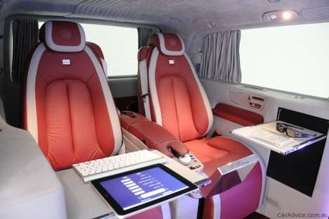 Offices on Wheels - The Brabus iBusiness Mercedes Benz 3D Viano is a Multimedia Driving Machine