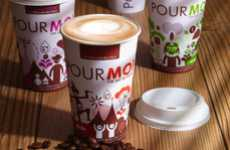 Animated Coffee Cups - Aimia Foods 'Pour Moi' Converts Consumers to Vending Machine Mocha