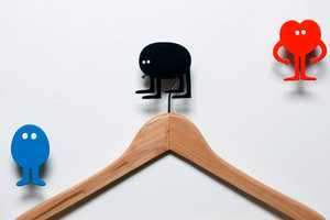 These Animated Domestic Coat Hooks Exercise Limp Limbs