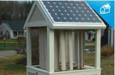Attractive Eco Power - Sinergy 1000 Hybrid Cupola Holds a Vertical Wind Turbine and Solar Panels