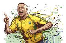 Football Legend Illustrations - Christiano Siqueira's Series of Portraits Expresses Intense Emotion