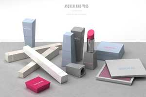 Aschen and Voss Cosmetics Line Stands Out in Clean & Sharp Packaging