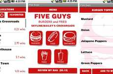 Obesity-Ordering Apps - The Five Guys Ordering App Lets You Order Dinner from Your Phone