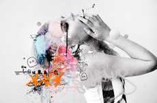 Frantic Ethereal Art  (UPDATE) - Raphael Vicenzi Innovates Illustration with Mixed Media and Words