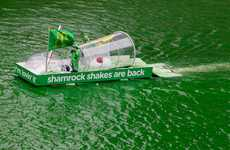 The Leo Burnett McDonald's Shamrock Shake Dyes Chicago River
