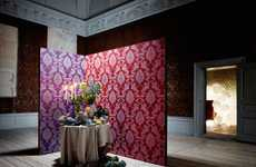 Decked-Out Crystal Decor - Swarovski Elements Releases a Dazzling Wallpaper Collection