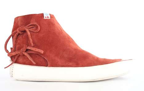 Monochrome Leather Kicks - The Gila Moc Mid-Folk From Visvim Come in Wicked Color Choices
