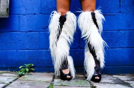 Hot Hairy Leggings - BOX 185 Sells Crazy Leg Accessories That Will Release Your Inner Beast