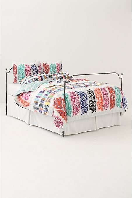 leaf-print bedding