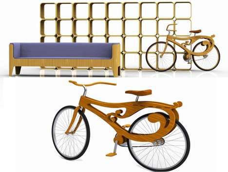 Art Nouveau Bicycles - The Pliny the Younger Furniture Collection Features a Truly Bizarre Creation