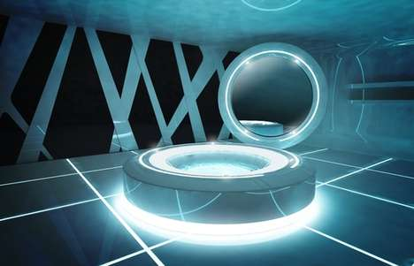Icy Sci-Fi Interiors - The Tron Designs Corian Interior Brings the Blockbuster Film into Your Home