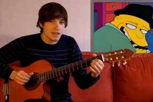 Fredde Gredde Does an Amazing Simpsons Medley in Homage to the Show