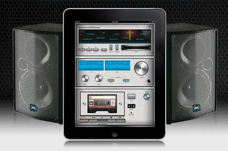 Retro Stereo Tablet Apps - The Stereolizer App Turns Your iPad into an Old-Fashioned Radio