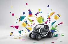 Colorful Car Campaigns - Le Creative Sweatshop's Renault Twizy Ads are Explosively Vibrant