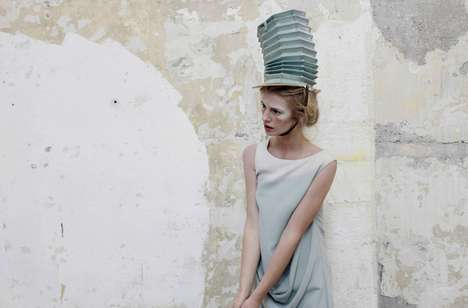 Accordion Headdresses - Get a Dose of Generational Style with Fashion156 Issue 39