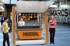 Pop-Up Portable Coffee Shops - The Nescafe Nomadic Cafe Center Gives You Your Caffeine Kick Anywhere