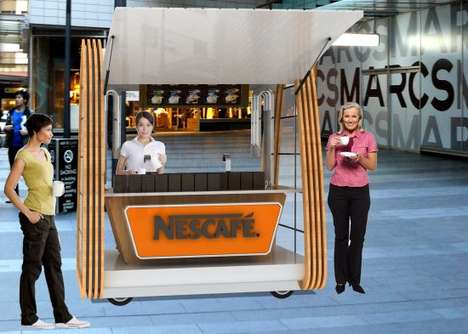 Nescafe, popup, coffee, concept