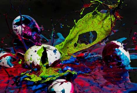 Neon Egg Explosions - '100 mph!!!' from Henry Hargreaves is an Eye-Popping Art Project