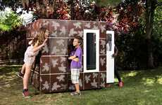Designer Kiddie Playhomes - The SmartPlayhouse Offers Personal and Stylish Spaces for Children